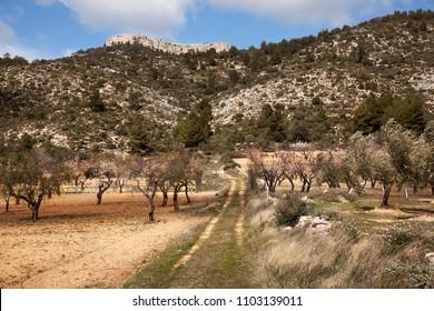 Way to La Caixa. Beceite. Spain