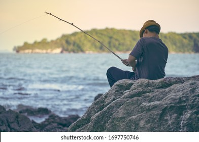 The way of life of the villagers  Fishing in the sea for cooking