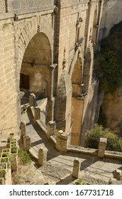 Way in the New Bridge in Ronda, Spain, is the tallest of the bridges, towering 120 meters above the canyon floor, and all three serve as some of the city's most impressive features.