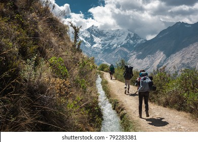 The way on Salkantay trek, Peru