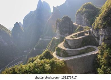 The way to reach a heaven door at Zhangjiajie of China