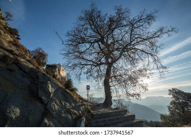 Way up to the Sanctuary of Bellmunt, Sant Pere de Torelló - Shutterstock ID 1737941567