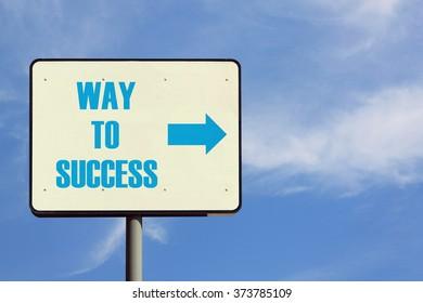 Way To Success Sign