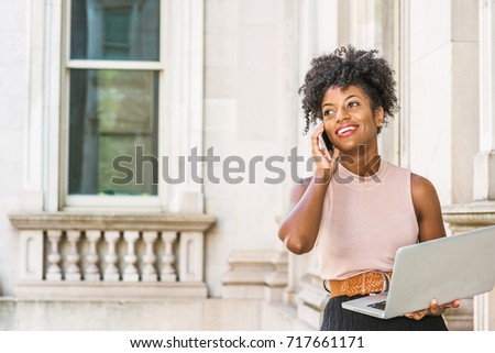 Way Success Young African American Businesswoman Stock Photo Edit