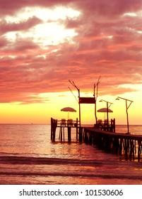Way to Sunset Sundown Serenity