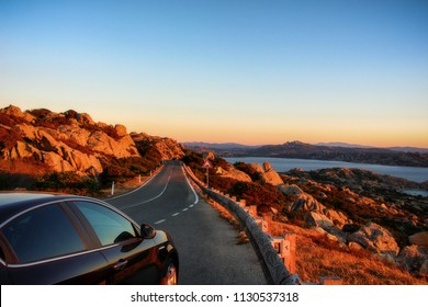 And the way that leads us to destionazione. Panoramic road to La Maddalena