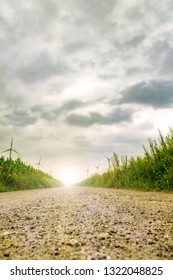 a way with wind turbines and sunshine
