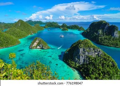 Wayag Island in Raja Ampat PAPUA Regency INDONESIA