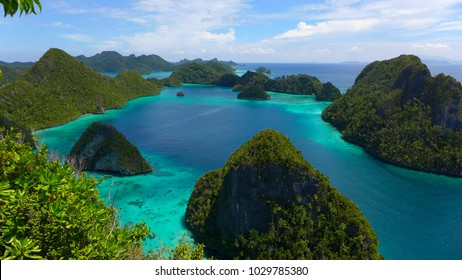Wayag Lagoon in Raja Ampat, west Papua, Indonesia
