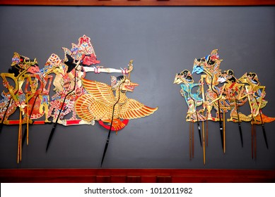 wayang kulit  traditional arts from Java,Indonesia