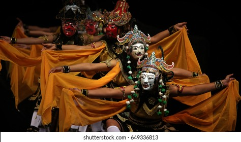 Wayang Topeng East Java is a traditional dance from East Java Indonesia. Performing at Jogjakarta Wayang Festival
