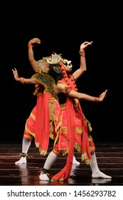 Wayang Topeng Jawa Timur, a traditional mask dance from East java Indonesia.