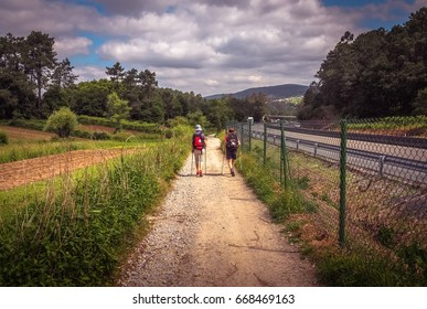 The Way-El Camino de Santiago ,shooting across the way through Galicia,Spain
