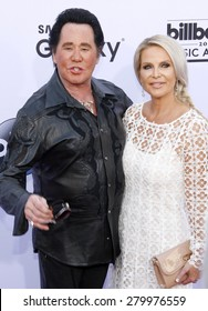 Wayne Newton and Kathleen McCrone at the 2015 Billboard Music Awards held at the MGM Garden Arena in Las Vegas, USA on May 17, 2015.