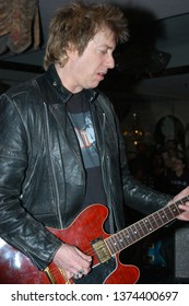 Wayne, NJ/USA - February 10, 2006: Guitarist Ricky Byrd performs with Southside Johnny and the Asbury Jukes at a benefit concert in New Jersey.