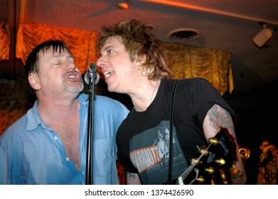 Wayne, NJ/USA - February 10, 2006: Singer Southside Johnny and guitarist Ricky Byrd perform at a benefit concert in New Jersey.
