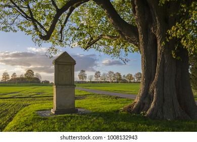 wayside shrine at a  tree