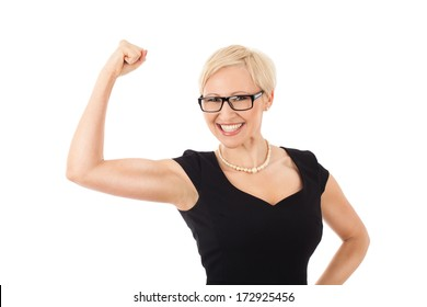 We can do it! - strong business woman