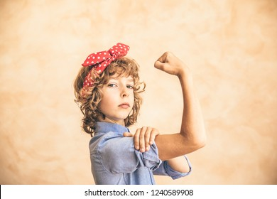We can do it!  Woman's day. 8 March. Spring holiday concept.