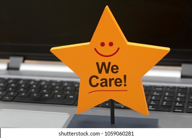 We care Customer Service 5 star sign