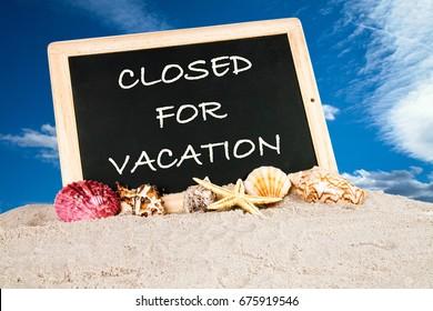 Cerrado por vacaciones images stock photos vectors shutterstock we are closed for vacation thecheapjerseys Image collections