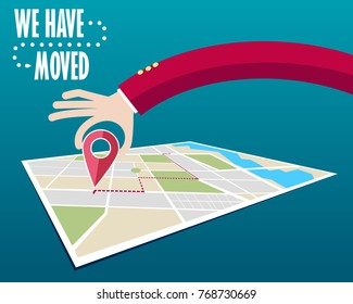 We have moved, changed address