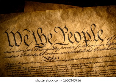 We the people, the beginning of the preamble to the United States constitution