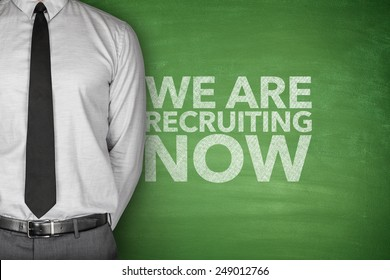 We are recruiting now on blackboard with businessman