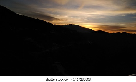 We started to see the sunrise in Kasauli, India
