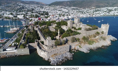 We viewed Bodrum Castle with drone from different angles. Bodrum/Mugla/Turkey