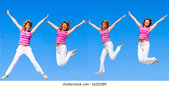 """we wanna jump higher and higher -  of  """"Sport and fitness"""" multiple series in studio's portfolio"""