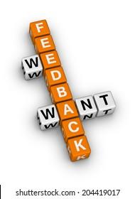 we want feedback (orange-white crossword puzzles series)