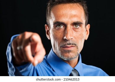 We want you: businessman pointing at you