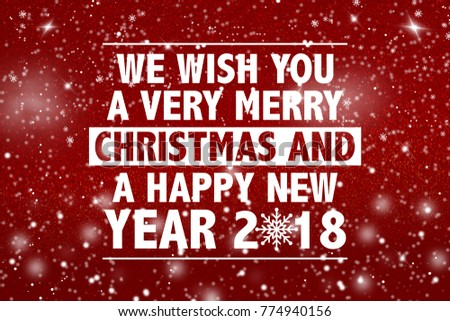 we wish you a very merry christmas and happy new year 2018 words on shiny