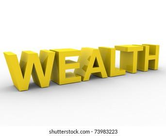 wealth 3d word