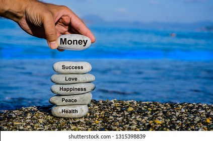Wealth, richness, new job concept photo. New excitements, hopes for a new future. Winning, success, life goals concept. Money, happiness, success, love all together. Components of wonderful life.
