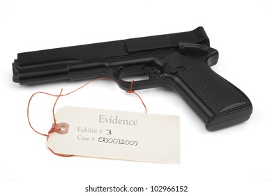 Weapon in evidence