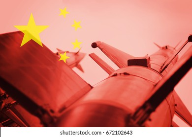 Weapons of mass destruction. Chinese ICBM missile. War Background.