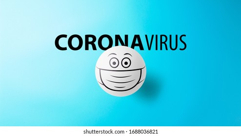Wearing mask to prevent corona virus, coronavirus and protection concept.