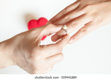 Wearing ring to the one you love