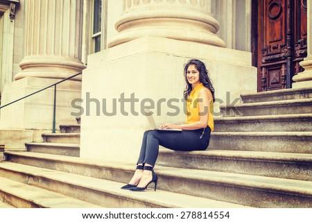 wearing-sleeveless-orange-shirt-striped-