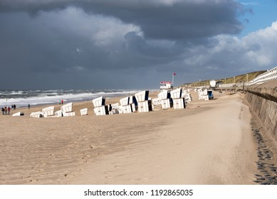 Weather change an der north Sea coast in front of Sylt on 09.22.2018
