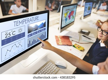 Weather Condition News Report Climate Forecasting Meteorology Temperature Concept