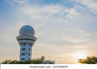 Weather forecast, Radar on blue sky