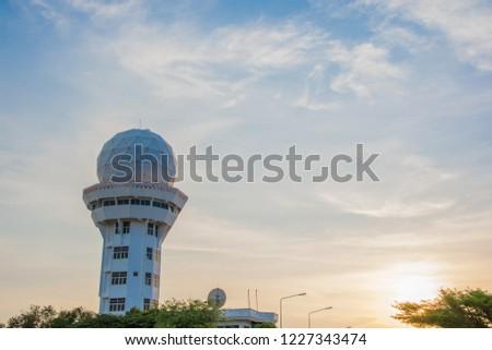 Weather Forecast Radar On Blue Sky Stock Photo (Edit Now) 1227343474