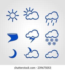Weather icon set of infographics figures