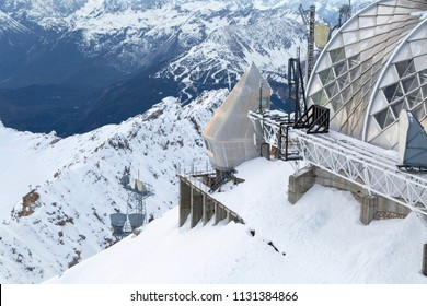 Weather station in Alps