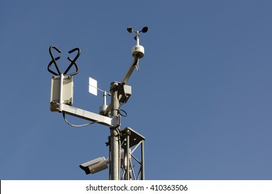 Weather station with equipment for measurement of hydrological data.