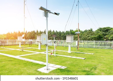 The weather station in the forest - Shutterstock ID 191548601