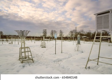 Weather station. Winter Karelia Russia